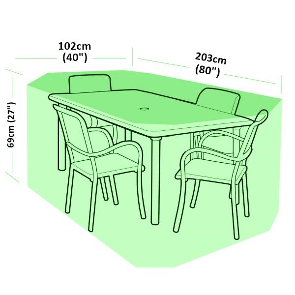 Rectangle Table Cover L 274 Cm D 208 Cm H 70 Cm