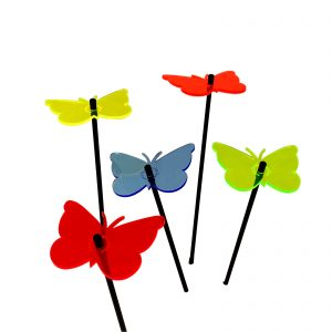 SunCatcher Decorative Garden Stakes Gatekeeper Butterfly set of 5