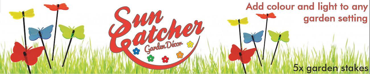 Medium SunCatcher Decorative Garden Stakes Set of 5 flat pack